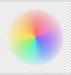 Gradient rainbow color circle vector