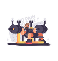 powerlifting athlete in competitions vector image vector image