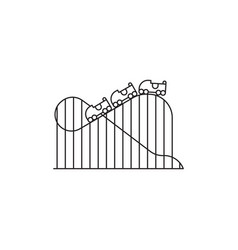 roller coaster icon linear design isolated vector image vector image