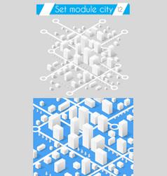 set for design 3d vector image