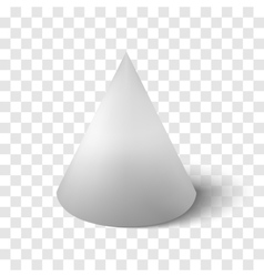 transparency cone isolated vector image