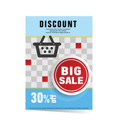 poster of discount sale vector image