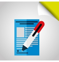 signing contract design vector image vector image