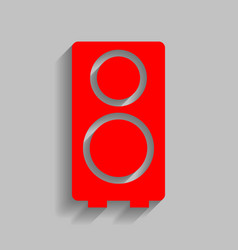 speaker sign red icon with vector image vector image