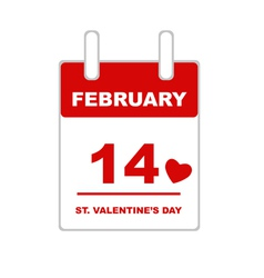 Valentine s Day Calendar vector image