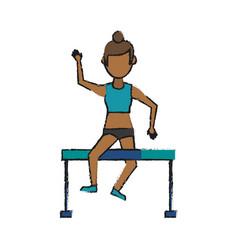 athlete girl vector image