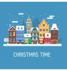 Europe Christmas Street vector image