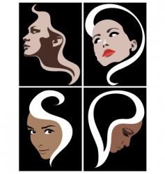 girl face symbol vector image
