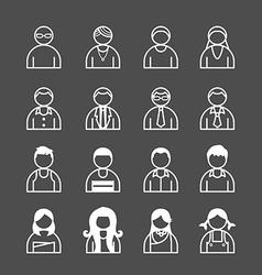 human Icons set vector image vector image
