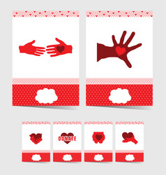 poster of donate with symbol on it in red color vector image vector image