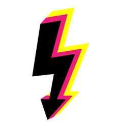 3d icons lightning bolt thunder sign vector