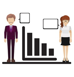 A graph with a man and woman vector image