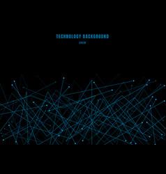 Abstract futuristic molecule structure line blue vector