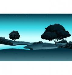 amazing landscape vector image