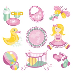 Baby products vector