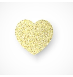 Background with gold glitter heart vector