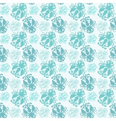 background with seamless floral pattern vector image