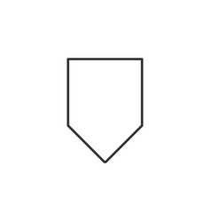 badge price line icon simple modern flat for vector image