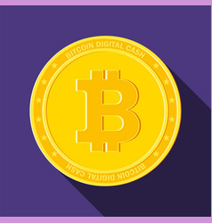 Bitcoin on violet background vector