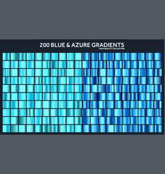 Blue azure chrome gradient setpatterntemplate vector