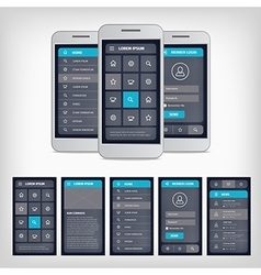 blue mobile user interface vector image