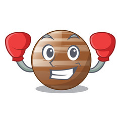 boxing planet jupiter in form of cartoon vector image