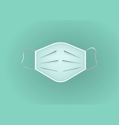 Breathing medical respiratory mask surgical mask vector