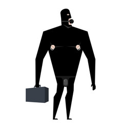 Businessman bdsm slave boss leather bandage sexy vector