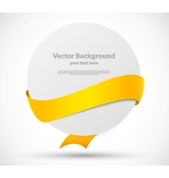 Card with yellow ribbon vector image