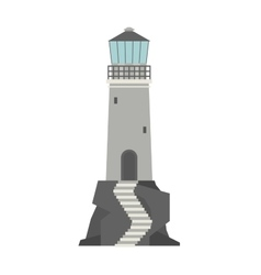 Cartoon flat lighthouses vector