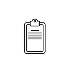 checklist line icon black on white vector image