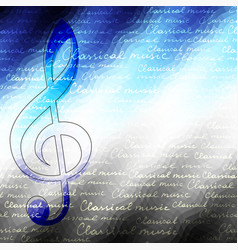 Classical music backhround vector