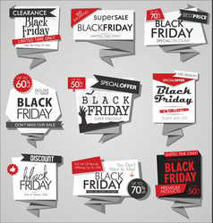 collection of black friday sale discount vector image