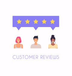 concept feedback testimonials messages vector image