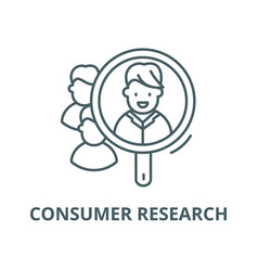 Consumer research line icon linear concept vector