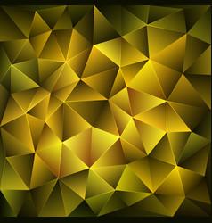 dark yellow polygonal background vector image