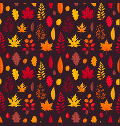 falling leaves seamless pattern vector image