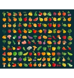 Fruit and vegetables logo design template vector