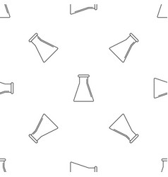 glass flask pattern seamless vector image