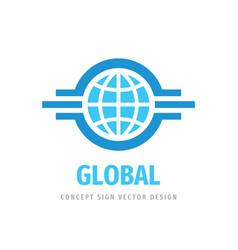 global travel concept logo design business vector image