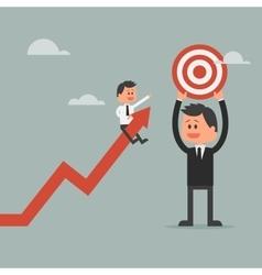 Goal achievement concept Motivation concept to be vector