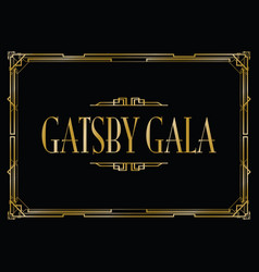 great gatsby gala background vector image