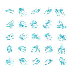 hand cleansing disinfection vector image