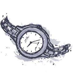 hand drawn fashion watches vector image