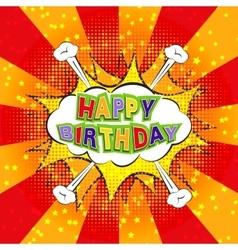 Happy Birthday comics vector