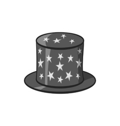 Hat of magician icon black monochrome style vector image