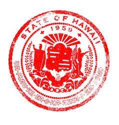 Hawaii seal stamp vector
