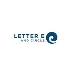 initial letter e logo design template vector image