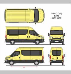 Iveco daily passenger van l2h2 2014-2019 vector