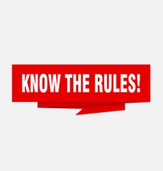 Know rules vector